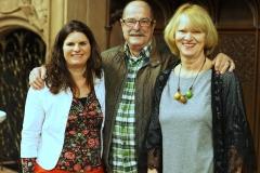 Tina Schöpfer, Karin Burkart und ihr Ehemann.